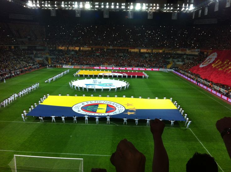 Voetbalwedstrijd, Fenerbahce-Galatasaray Kayseri Kadir Has Stadion.