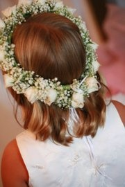 White Flower Girl Halo