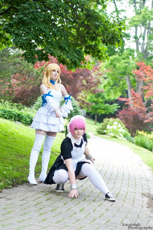 Lucy and Virgo from Fairy Tail Cosplay http://geekxgirls.com/article.php?ID=6782