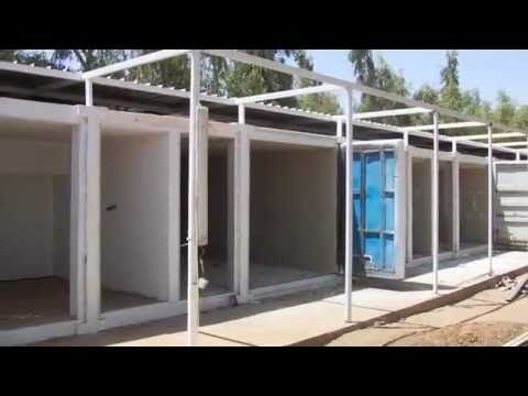 The Shipping Container Medical Compound for EMERGENCY Salam Center Khartoum, Sudan.