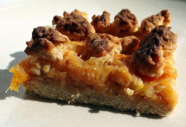 Cukromania Frania: Orkiszowa kruszonka z jabłkami i morelami - bossska :D