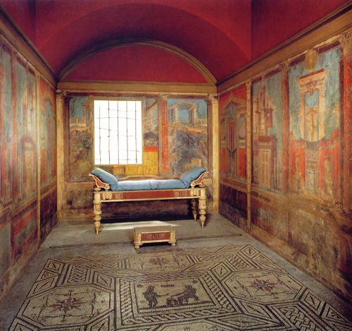 The Boscoreale Room: A well-preserved Roman bedroom with fresco paintings…