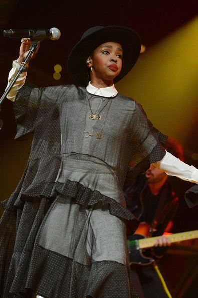 Lauryn Hill Photos Photos - Singer/songwriter Lauryn Hill performs onstage at the Amnesty International Concert presented by the CBGB Festival at Barclays Center on February 5, 2014 in New York City. - CBGB Festival Presents Amnesty International Concert At Barclay Center - Show