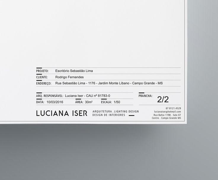 Marca e identidade visual para a arquiteta Luciana Iser. Ricebean Studio