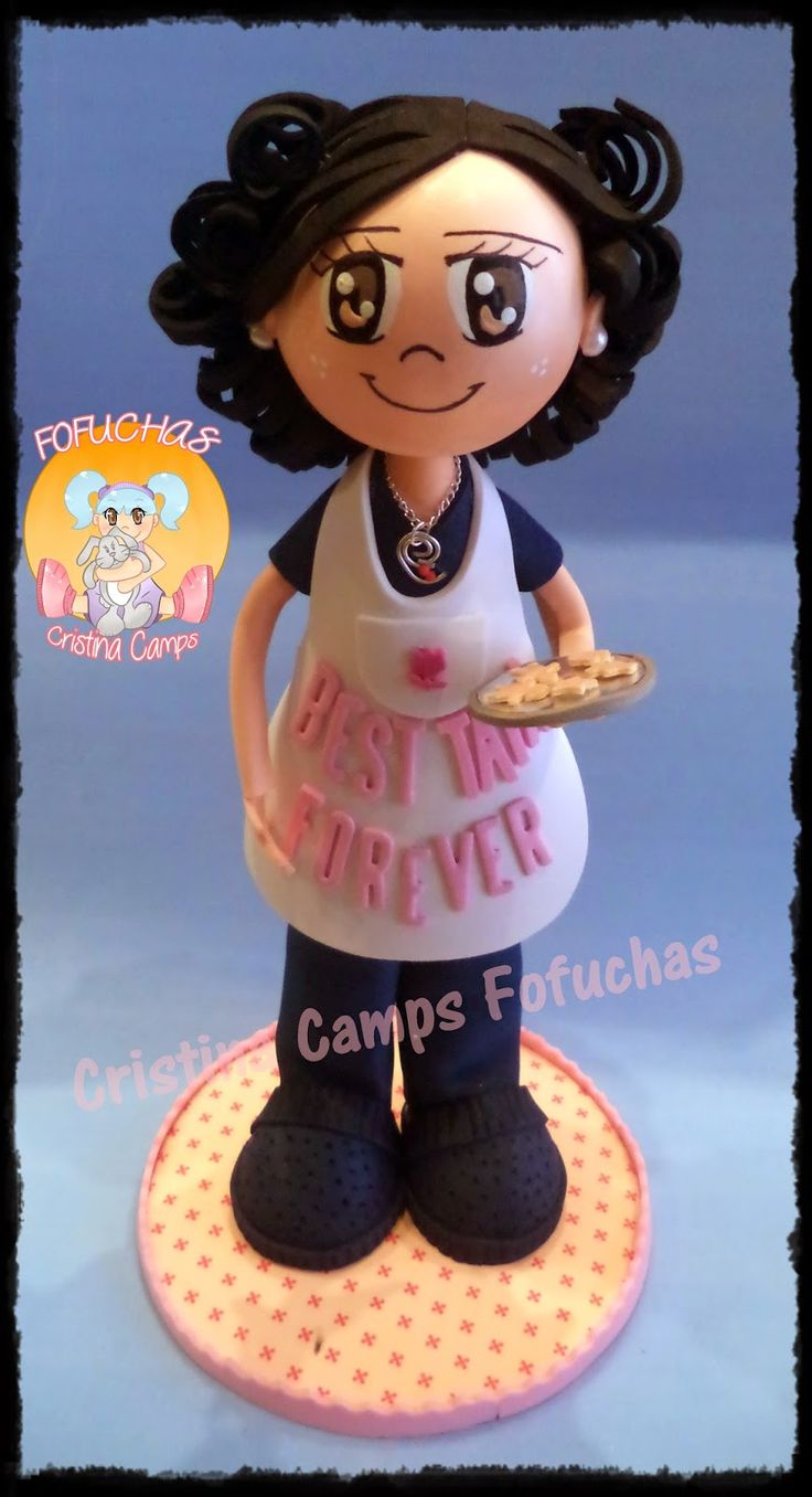 Cristina Camps Fofuchas: Fofucha sra con galletas