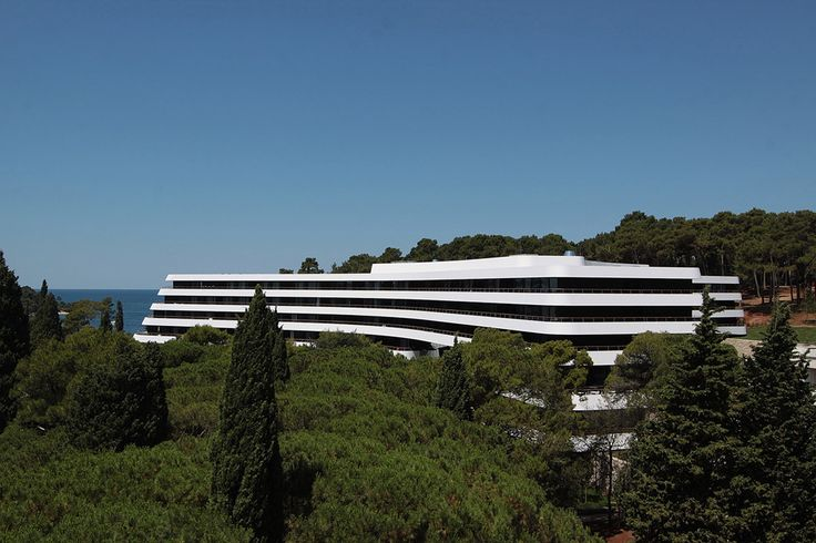 Hotel Lone, 3LHD Architects, Хорватия Интеграция в среду, скульптурная пластика, криволинейные формы