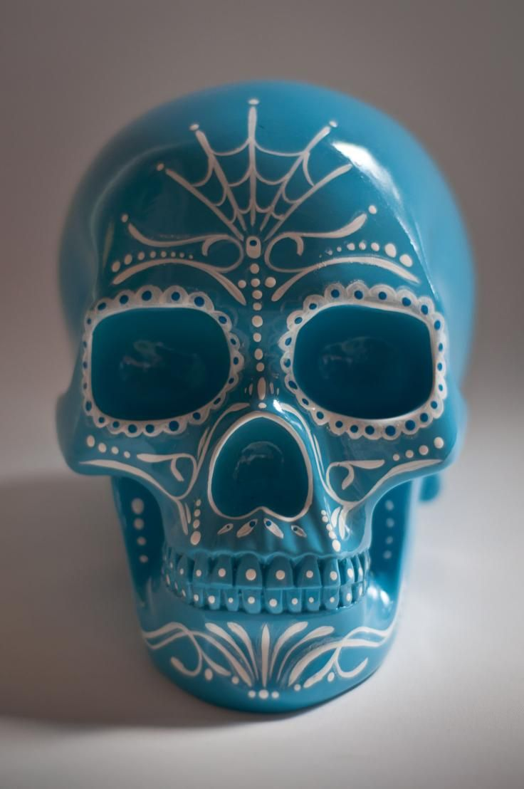 Nice simple but effective pattern to use on Day of the Dead skulls