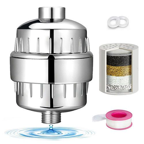 Best Shower Filters For Hair Loss: 9. Luxsego Universal Shower Filter with 8-Stage Filter