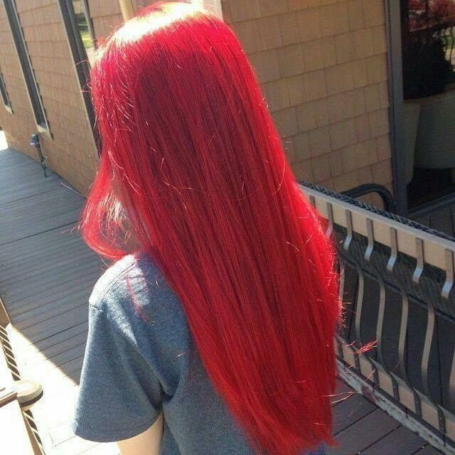 Crimson Red Electriccrimson Bright Hair Colors Hair Styles Bright Red Hair