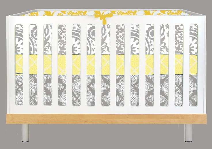 grey and yellow nursery bedding - Google Search