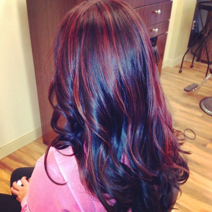 Black brown with red highlights   Hair Styles/Cuts/Color/Tips   Pinte ...