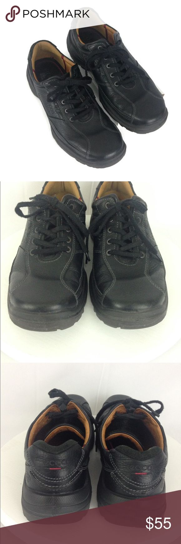 ECCO Men's Casual Black Sz EU 46 US 12-12 1/2 EccoMen's Country Tie Casual Shoes Style #40001 Size: EU 46 US 12-12 1/2 Color: Black Condition: Pre-owned, good condition with normal wear.  Please see images for a visual description. Material: •Upper combination of oil suede, oiled nubuck and leather •Leather lining •Latex outsole This and all of my listings are stored in a smoke-free environment. Please contact me with any questions you may have. Ecco Shoes Oxfords & Derbys