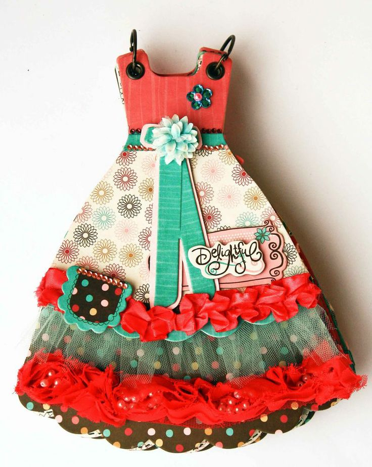 Cute dress mini album...no file...just for inspiration :)