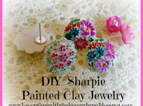 Sharpie Painted Clay Jewelry #3-Hole #Sunflower #ResinMold