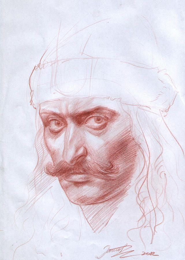 Vlad The Impaler Drawing by Dan Ianos.