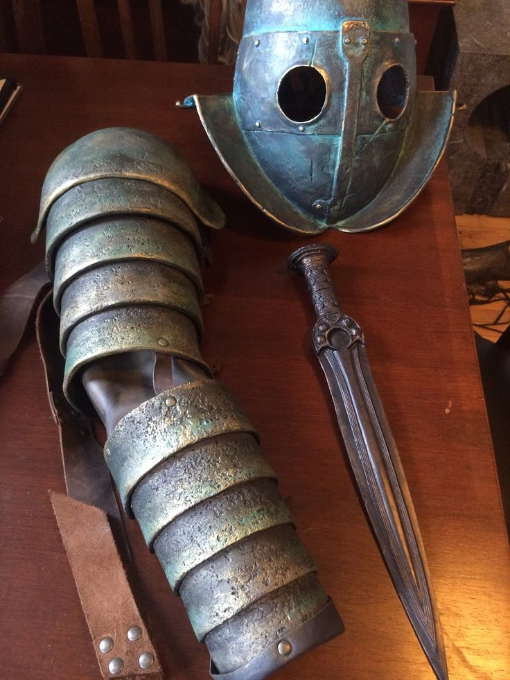 Gladiator armour and weapon for the upcoming saga, Enemy of Rome