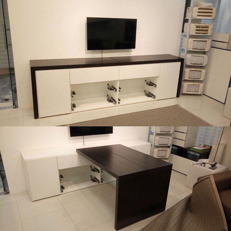 #olissys #новыйшоурум #мебельтрансформер #дизайнинтерьера новый , практически готовый , стол-тв тумба трансформер
