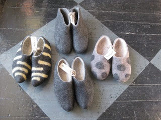 felted feet... :)