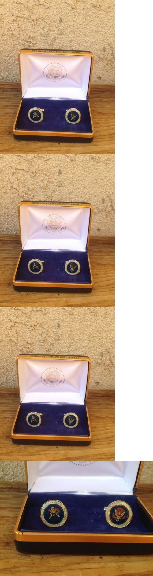 Bill Clinton: New Bill Clinton Presidential Seal Color Cufflinks -> BUY IT NOW ONLY: $29.99 on eBay!