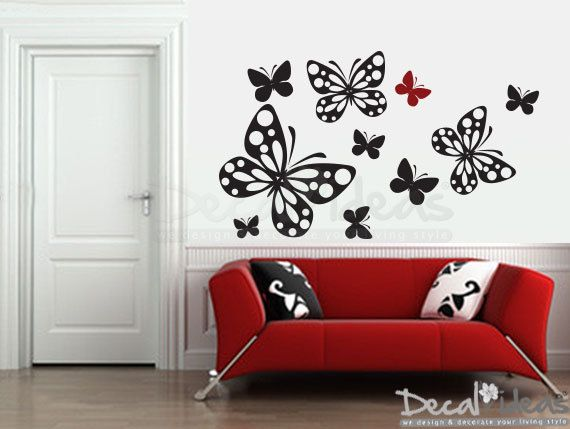 Stylish Butterflies Wall Decal Butterflies Decal By StunningWalls Part 89