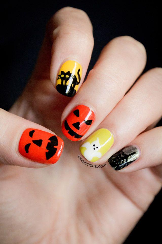cute halloween nails ideas