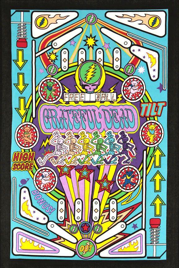 Grateful Dead Pinball Machine Mini Tapestry 30X45