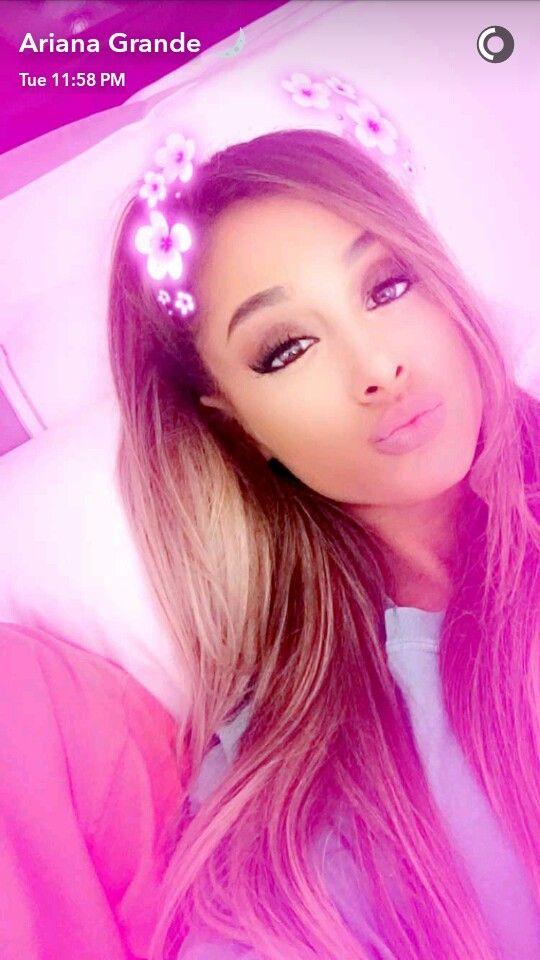 Ariana Grande via Snapchat ♡ | @heyitsgrellhttp://spotpopfashion.com/qyoj