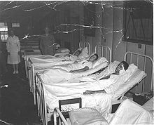 Battle of Peleliu - Wikipedia, the free encyclopedia. Marines in a hospital on Guadalcanal after being wounded in the Battle of Peleliu. WW II
