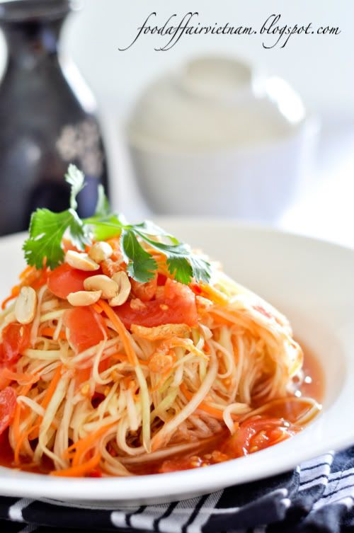 how to make green papaya noodles