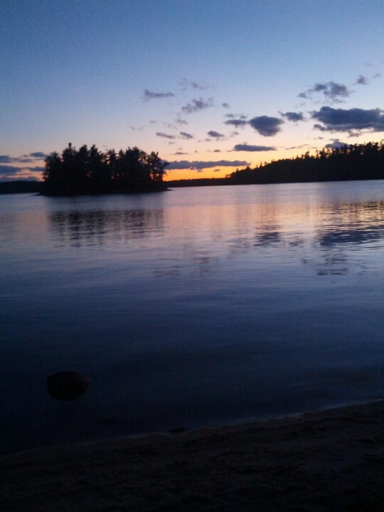 A beautiful sunset at the Sioux narrows provincial park :) near my home town :D I <3 north western ontario