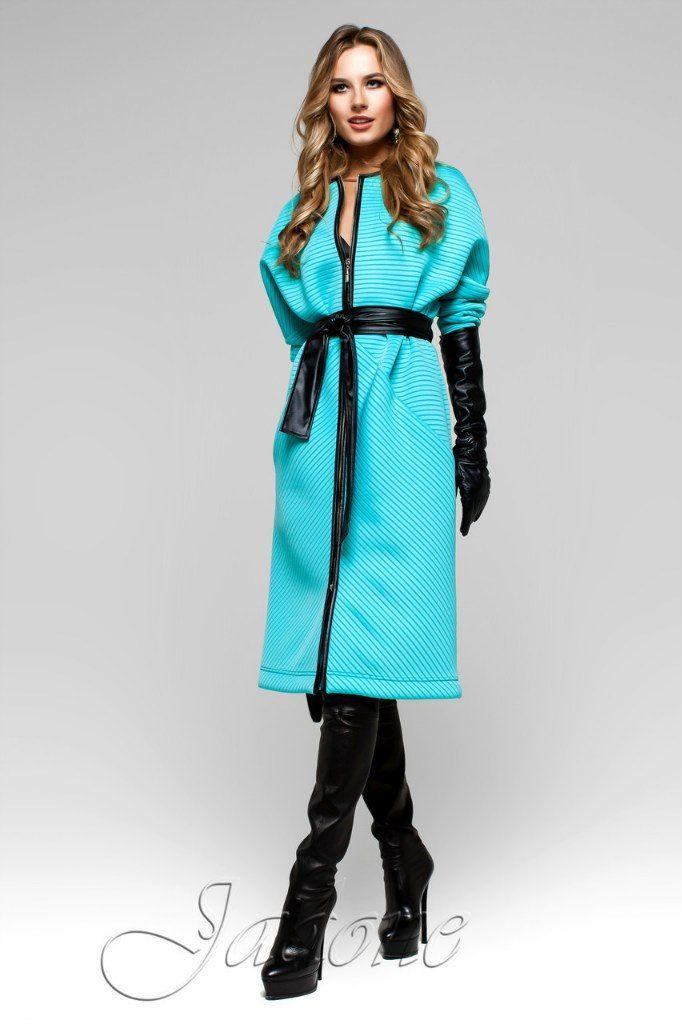 Тренч-пальто Greta бирюза