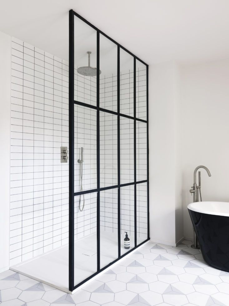 Bathroom of the Week: Steel-Frame Shower Doors in a Fanciful London Project - Remodelista