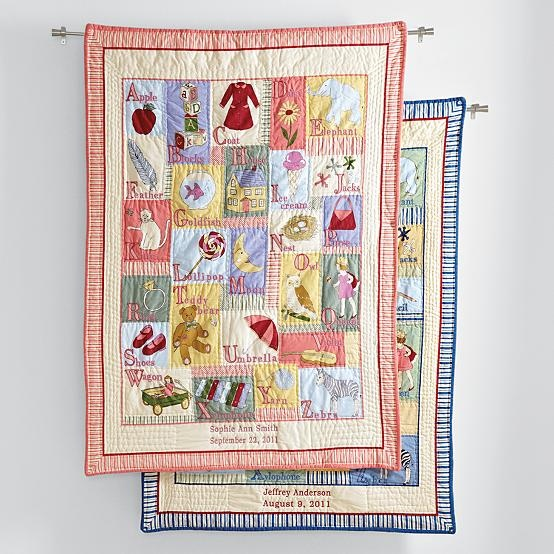 Personalized Abc Keepsake Quilt By Red Envelope Quilts