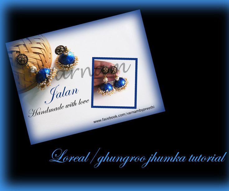 Quilled loreal (ghungroo) jhumka