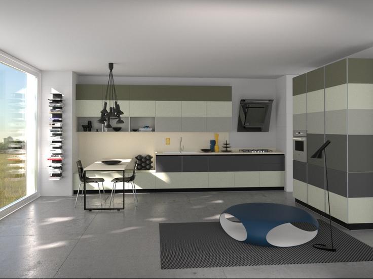 Tetrix by Micheal #Young #Scavolini #kitchen #Livingroom Colour Kit K6