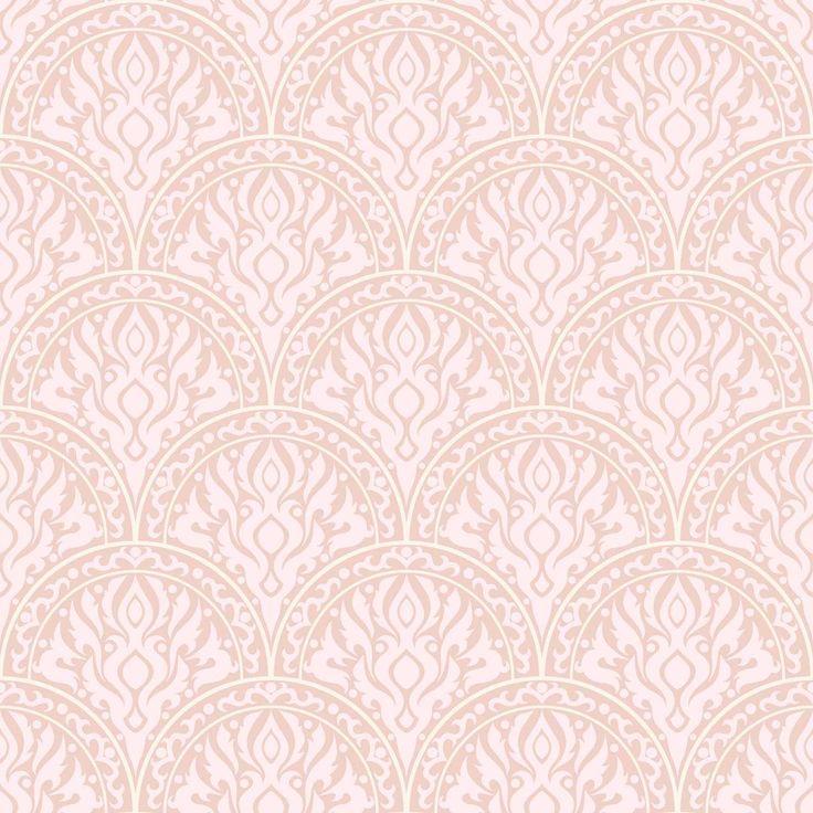 Papel mural diseño clásico tonos rosados