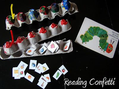 Feed the Hungry Caterpillar with free printable!: Books, Thehungrycaterpillar, Hungry Caterpillar Activities, Idea, The Hungry Caterpillar, Caterpillar Crafts, Eggs Cartons Crafts, Very Hungry Caterpillar, Eric Carl