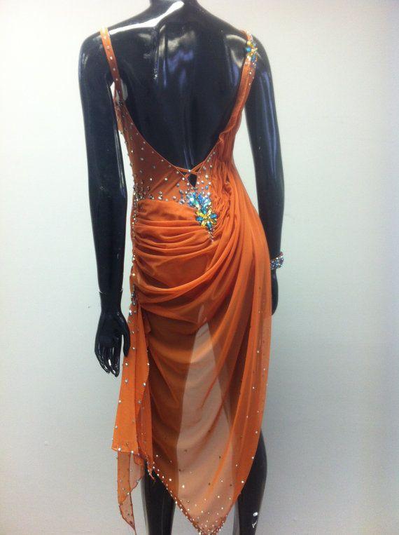 Brown Dance Latin Dress Dance Dresses Latin by DesignByNatasha