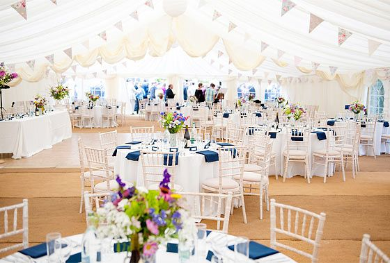 Summer marquee wedding    Photo by http://www.fionasweddingphotography.co.uk/