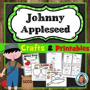 Johnny Appleseed Printables and Crafts is a week long unit filled with…