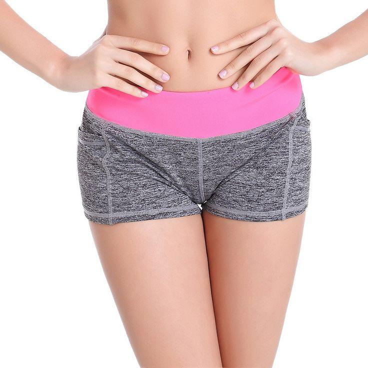 Vertvie Brand Women Summer Shorts Patchwork Low Waist Skinny Sports Short Quick Dry Jogging Running Short Gym Fitness Yoga Short