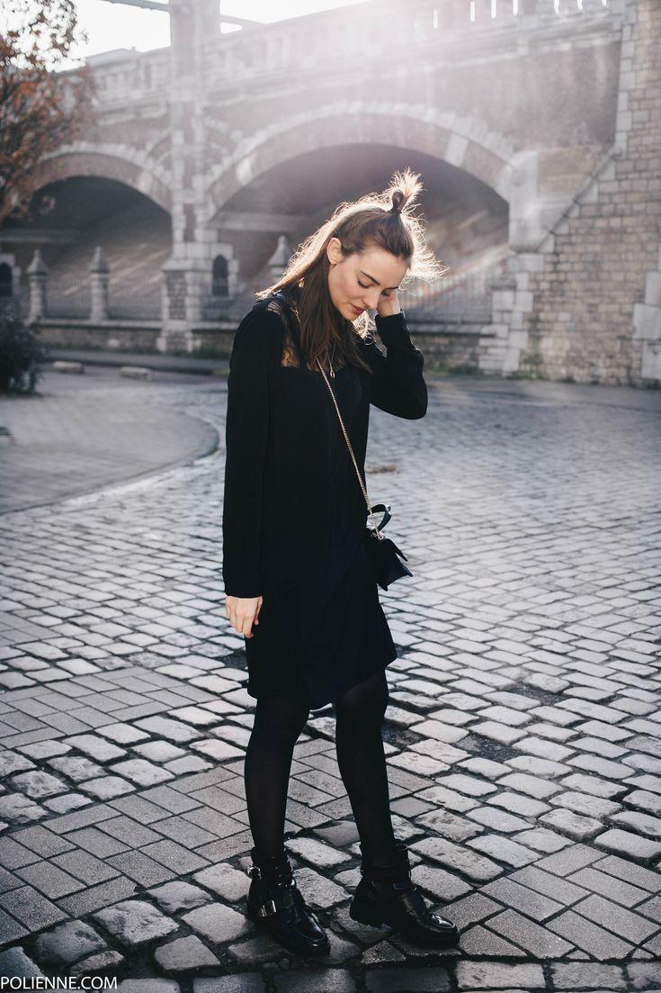 POLIENNE | wearing LA REDOUTE faux fur jacket, VILA party dress, RIVER ISLAND boots, PATRIZIA PEPE bag / in Antwerp, Belgium