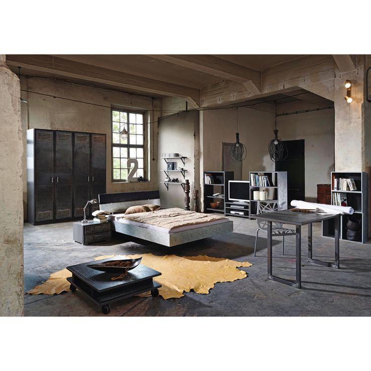Schlafzimmer Jugendzimmer Set LOFTE221 Industrial Print Optik, Graphit  Jetzt Bestellen Unter: Https