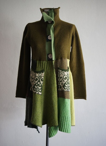 Old sweater into jaket