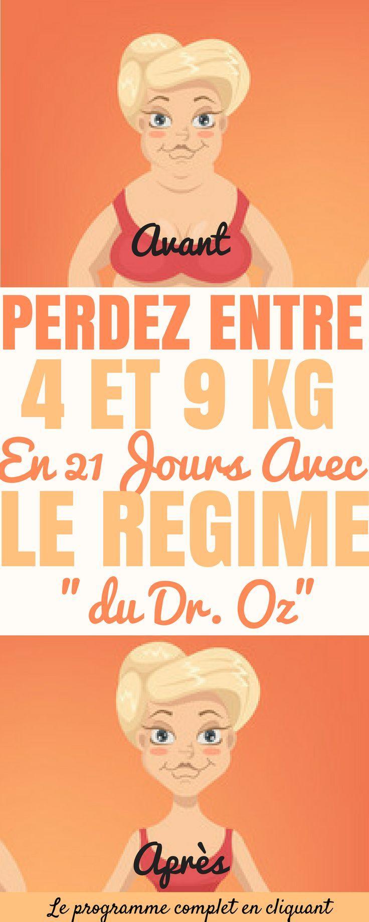 Si vous êtes tombés sur cette page, c'est que vous avez envie de perdre du poids ! En plus de vos poignés d'amour, vous pouvez perdre entre 4 et 9 kg en 21 jours.  En fait, avec ce régime, vous allez apprendre une nouvelle façon de manger. Ce programme de perte de poids est réalisé par le Dr Oz.  Le docteur Mehmet Oz est animateur d'émissions-débats et auteur de nombreux ouvrages sur l'alimentation et la santé. #santé #perdredupoids #maigrir #perdreduventre #maigrirsansstress #régime