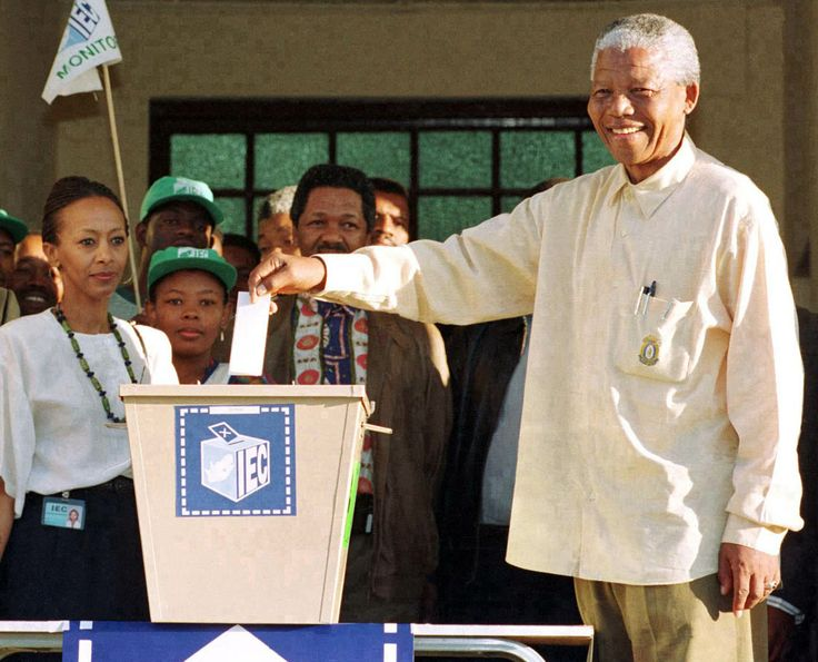 Our Tata casting his first vote on the 27 April 1994. He became our first black president. How privileged I am to live in these times of change in our country.