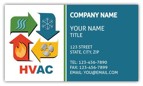 Heating and Cooling Business Card