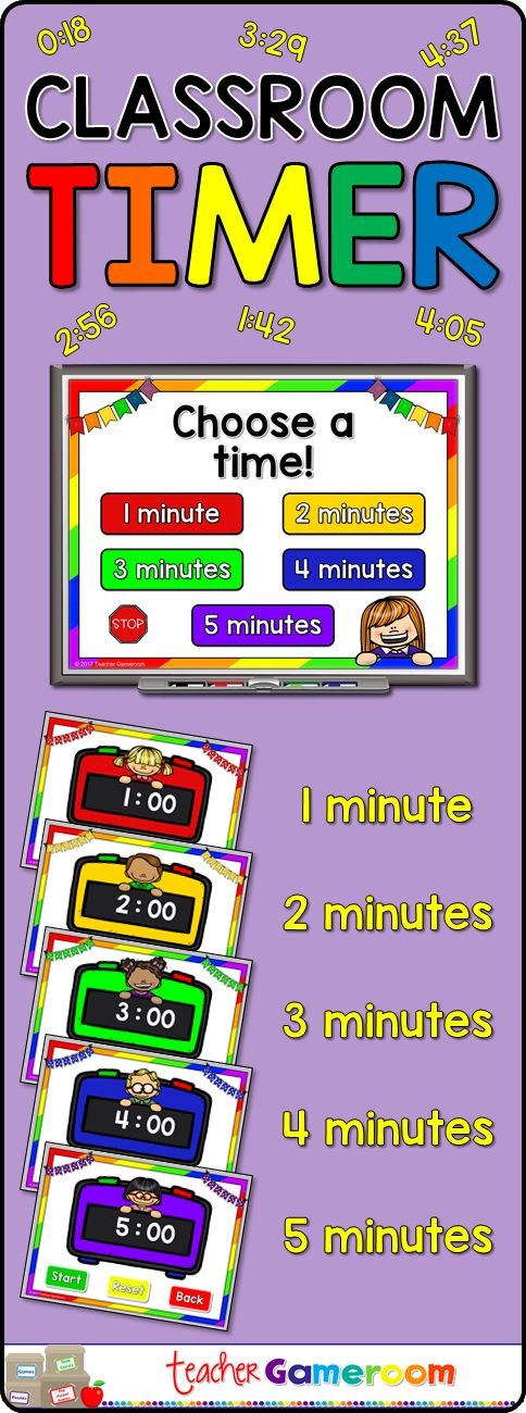 Back to School Classroom Timer Powerpoint Classroom