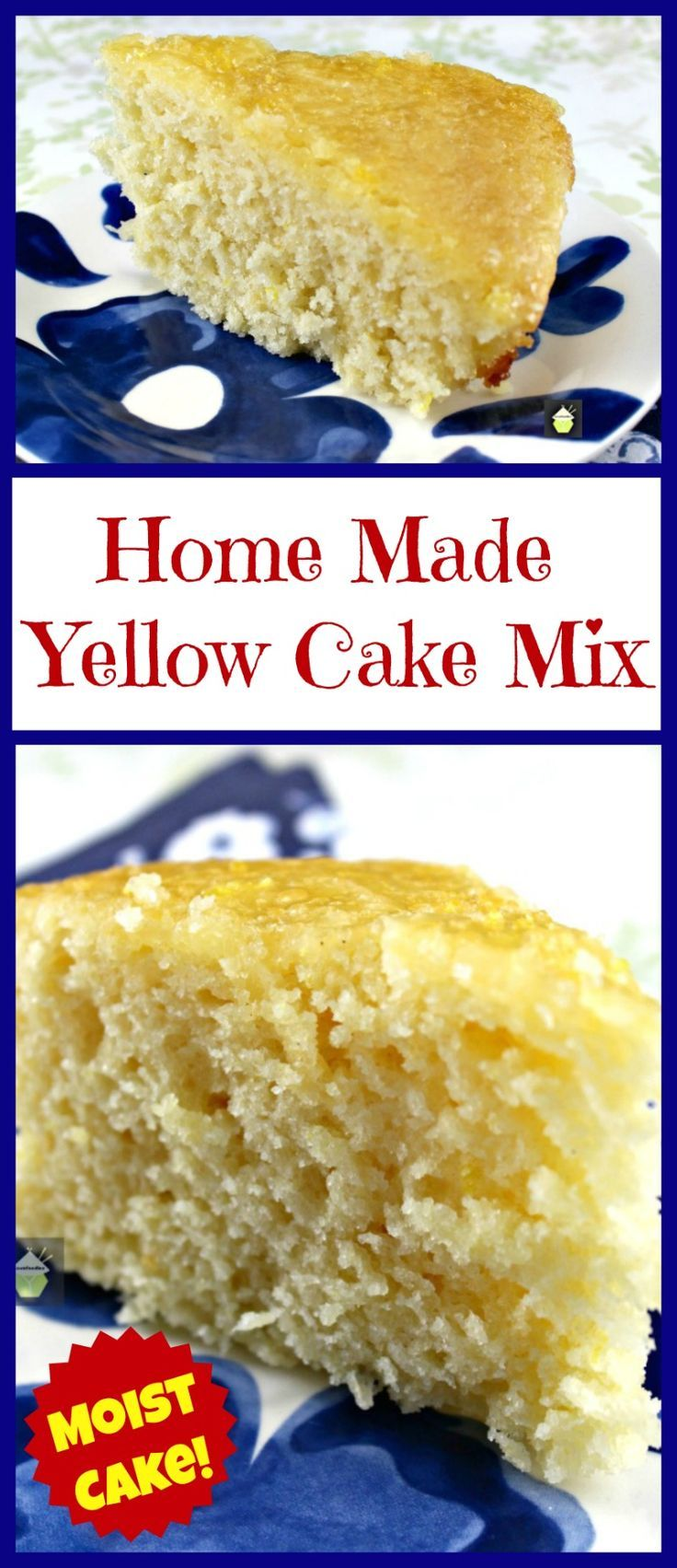 Home Made Yellow Cake Mix. This is a lovely substitute to the shop bought mixes and gives you a soft, moist cake. | Lovefoodies.com