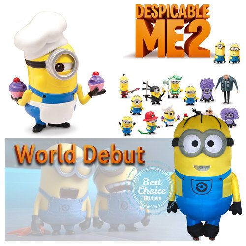 ==> [Free Shipping] Buy Best 2017 NEW Arrive Purple Minion Costume Mascot Despicable Me Inflatable Suit Fancy Minions Costume Cosplay for Halloween Adult Online with LOWEST Price | 32396161456